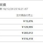 2018年の年納め!12月の「せどり」月商・月収報告!